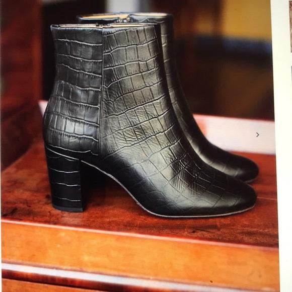 4f8baedad3cb Sezane Lea Boots in Black crocodile. 37. M_5c1b04bd9fe486615ab77612